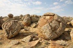 Steinbälle Stockfoto