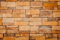 Steinbacksteinmauer Stockfoto