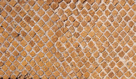 Steinbacksteinmauer-Beschaffenheit, verwendet möglicherweise als Hintergrund Stockfoto