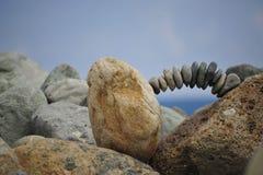 Steinbalancieren Stockbild