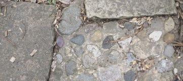 Steinbeschaffenheit von einer Bahn stockfoto