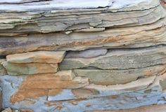 Steinbeschaffenheitsgrau mit dem Braun Lizenzfreie Stockfotografie