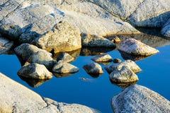 Steinbildung im Wasser Lizenzfreies Stockbild