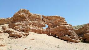Steinbildung an Sharyn Canyon-Landschaft in Kasachstan stockfotos