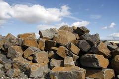 Steinblöcke für Aufbau Stockbild