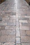 Steinblöcke pflasterten Straße in Dubrovnik Lizenzfreie Stockbilder
