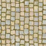 Steinblock mit Gras - nahtloser Hintergrund lizenzfreie stockfotos