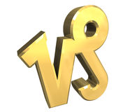 Steinbockastrologiesymbol im Gold (3d) Stockbild
