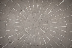 Steinboden in einem Kreismuster Lizenzfreies Stockfoto
