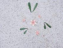 Steinboden im Garten Beschaffenheitsstein im Park Lizenzfreies Stockfoto