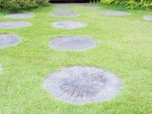 Steinboden im Garten Beschaffenheitsstein im Park Stockfoto