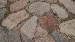 Steinboden mit einigem Staub und kleinen Steinen Stockbild