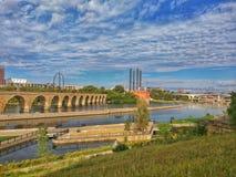 Steinbogen-Brücke, Minneapolis, Minnesota Lizenzfreies Stockfoto
