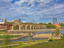 Steinbogen-Brücke, Minneapolis, Minnesota Stockbilder
