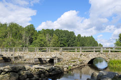 Steinbogenbrücke Stockbild