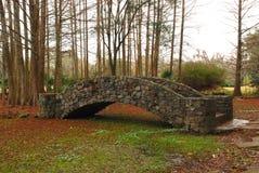 Steinbrücke an den Dschungel-Gärten lizenzfreie stockbilder