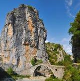 Steinbrücke in Zagoria Lizenzfreie Stockbilder