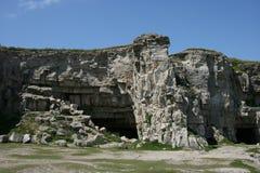 Steinbruch auf Küste Stockfotografie