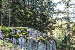 Steinbruch-Felsen in Nord-Vancouver BC Kanada Stockfotografie