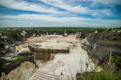 Steinbruch in Insel Goa Kapur Indonesiens Madura Lizenzfreies Stockbild