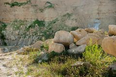 Steinbruch mit Lehm Lizenzfreie Stockbilder