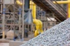 Steinbruch und Kies Lizenzfreies Stockfoto