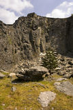 Steinbruchfelsen Wales Stockfoto
