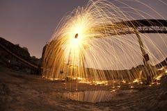 Steinbruchfeuerwerk Lizenzfreies Stockfoto