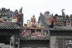 Steincarvings in der alten chinesischen Architektur Stockbilder