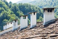 Steindach Troyan-Kloster in Bulgarien Lizenzfreie Stockbilder
