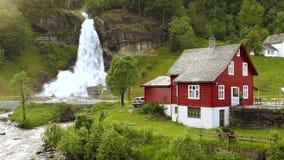 Steindalsfossen stock videobeelden