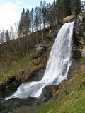 Steindalsfossen. In Norsundheim, Hardangerfjord, Hordaland, Norway Royalty Free Stock Photos