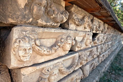Steindekorationen in den Aphrodisias Lizenzfreie Stockfotografie