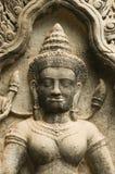 Devata Skulptur, Preah Khan Tempel, Kambodscha Stockfotos