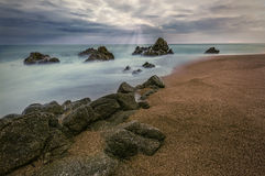 Steine auf dem Strand stockfotografie