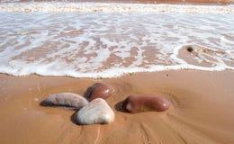 Steine auf dem Strand Stockbilder