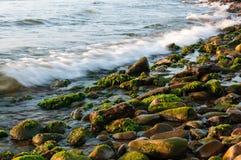 Steine auf dem Ufer Lizenzfreies Stockfoto