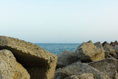 Steine auf der Küste Lizenzfreie Stockfotos