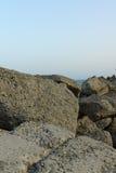 Steine auf der Küste Lizenzfreies Stockbild