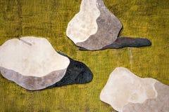 Steine auf der Wand Stockfotografie