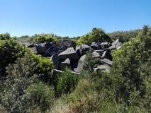 Steine auf einem Berg Lizenzfreies Stockfoto