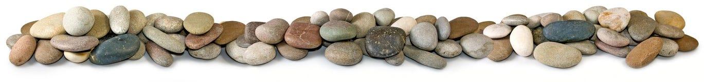 Steine auf einem weißen Hintergrund Stockbilder
