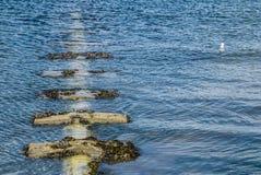 Steine auf Wasser lizenzfreie stockfotografie