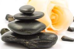 Steine auf Weiß Lizenzfreies Stockfoto
