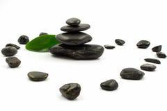 Steine auf Weiß Lizenzfreies Stockbild