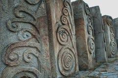 Steine bei Memorial Park Hisar in Leskovac Lizenzfreies Stockfoto