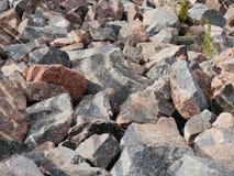 Steine an der Küste des Finnischen Meerbusens Lizenzfreies Stockbild