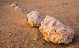 Steine in der Reihe Stockbild