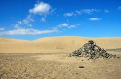 Steine in der Wüste stockfotos