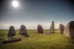 Steine des Ales (Ales Stenar) lizenzfreies stockbild